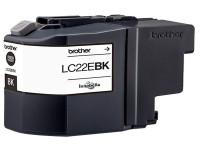 Original Tintenpatrone Brother LC22EBK schwarz